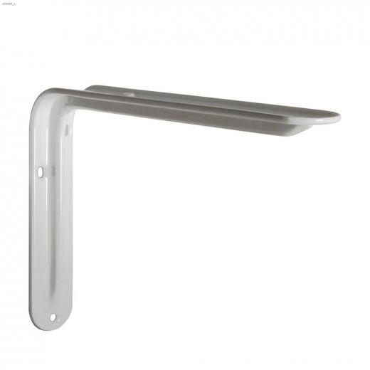 """Silhouette 5.5"""" x 1.5"""" x 7.87"""" White Steel Shelf Bracket"""