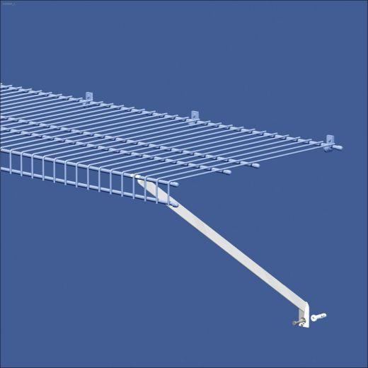 "12"" x 1"" Epoxy Coated White Steel Wire Shelf Bracket-12/Pack"