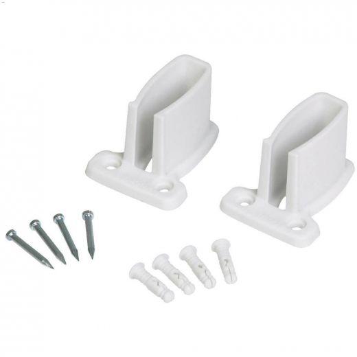 """2-7/8""""x2-1/8""""x1-3/4"""" White Resin Wire Shelf Bracket-12/Pack"""