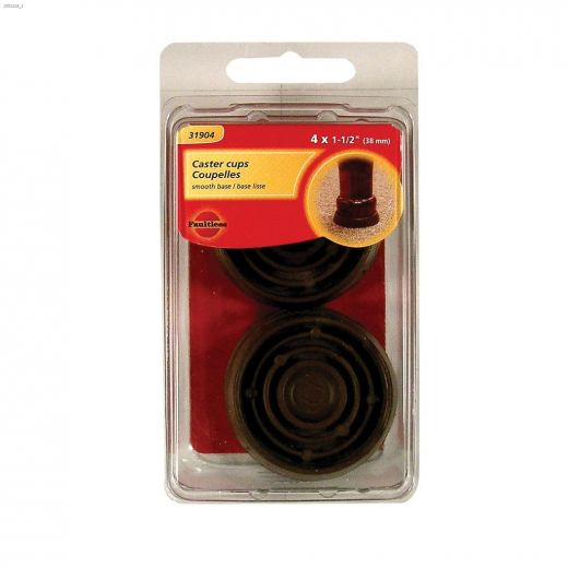 """1-1/2"""" Brown Smooth Rubber Round Cup"""