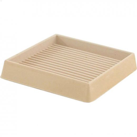 """3"""" Off-White Smooth Rubber Square Cup"""