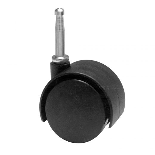 "1-5/8"" Black Wheel Dual-Wheel Caster"