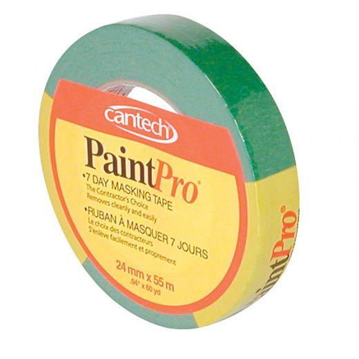 PaintPro® 24 mm x 55 m Green 10 Day Masking Tape