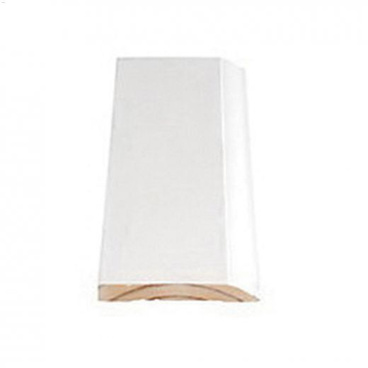 """3-1/4"""" x 7/16"""" x 16' Primed Pine Colonial Baseboard Moulding"""