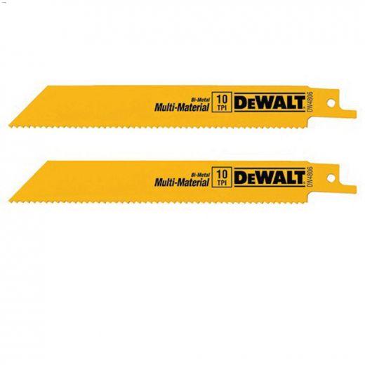 "6\"" 10\/14 TPI Bi-Metal Reciprocating Saw Blade-5\/Pack"