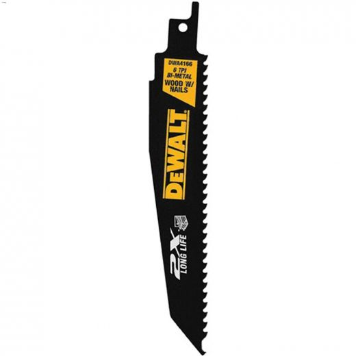 """9\"""" 6 TPI High Speed Steel Reciprocating Saw Blade-5\/Pack"""