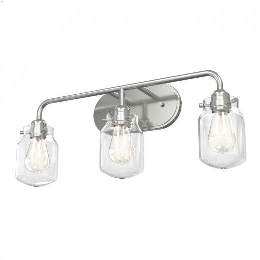 Lexington 3 Light A19 100 Watt Satin Nickel Vanity Light