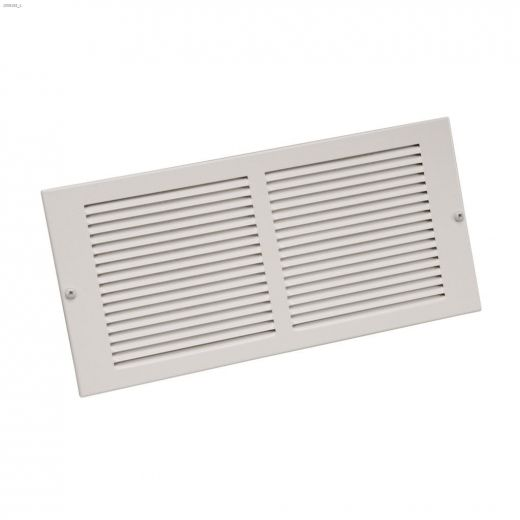 """6\"""" x 12\"""" White Louvered Design Sidewall Grille"""