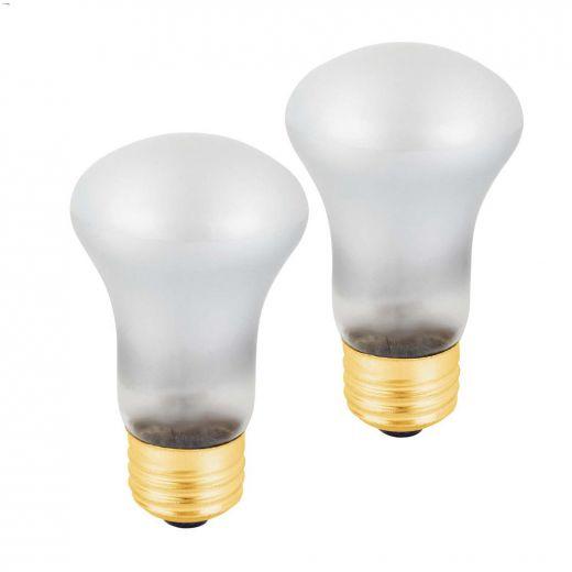 White 40 Watt E26 Medium R16 Incandescent Bulb-2\/Pack