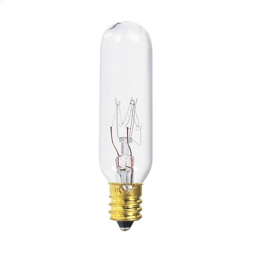 Clear 15 Watt Candelabra T6 Incandescent Bulb