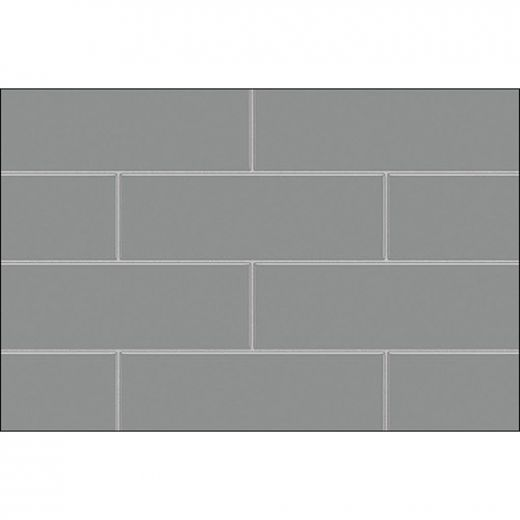 "48\"" x 1-1\/8\"" x 80\"" Metro Ash Grey Utile Side Wall Panel"
