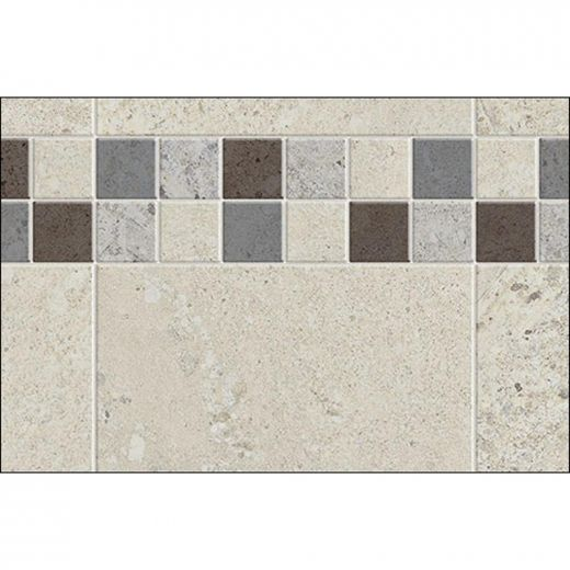 "60\"" x 1-1\/8\"" x 80\"" Stone Sahara Utile Side Wall Panel"