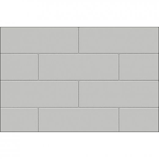 "60"" x 30\"" x 60\"" Metro Soft Gray Utile Tub Wall Kit"