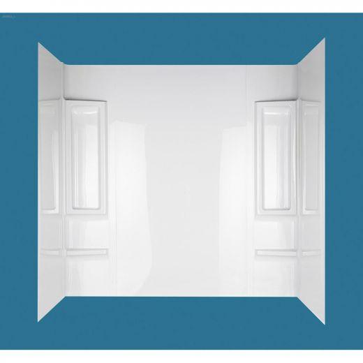 "27 - 31\"" x 49 - 60\"" x 58\"" High Gloss White Proclaim Wall Kit"