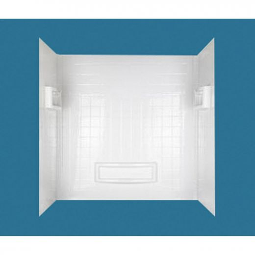 "31-1\/4\"" x 55-3\/4 - 60\"" x 60\"" High Gloss White Wall Kit"