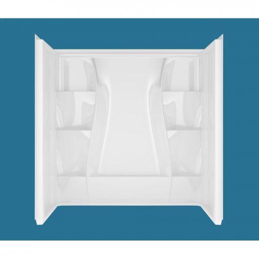 "32\"" x 60\"" x 60\"" High Gloss White Classic Wall Kit"