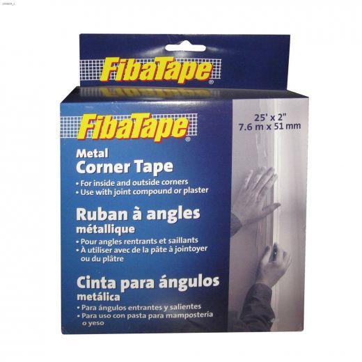 """FibaTape 25' x 2\"""" White Metal Corner Tape"""
