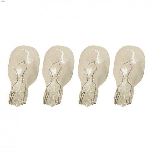Clear 4 Watt Wedge T5 Halogen Bulb-4\/Pack