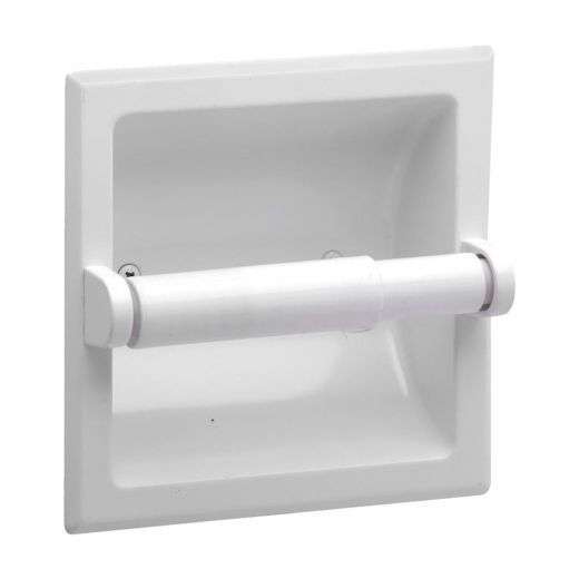 White Sunglow Recessed Paper Holder