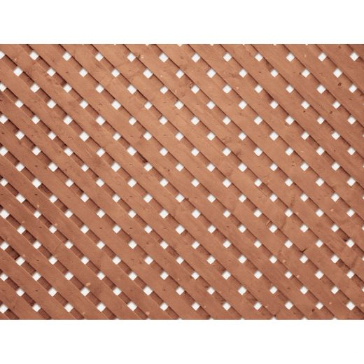 4' x 8' Pressure Treated Wood Brown Privacy Plus Lattice