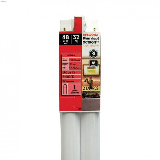 32 Watt G13 Medium Bipin T8 Fluorescent Bulb-2\/Pack