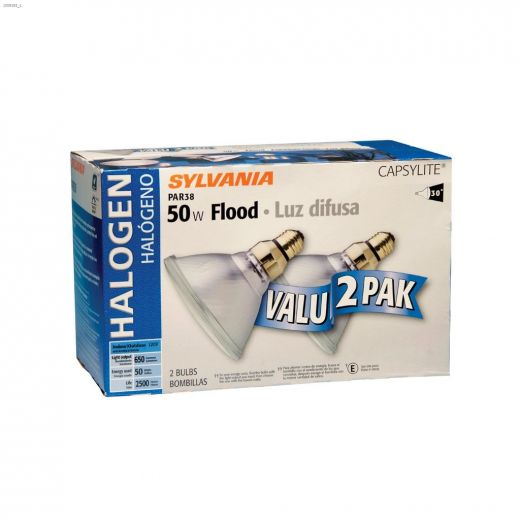 39 Watt E26 Medium PAR38 Reflector Halogen Bulb-2\/Pack