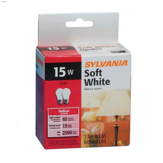 Soft White 15 Watt E26 Medium A15 Incandescent Bulb-2\/Pack