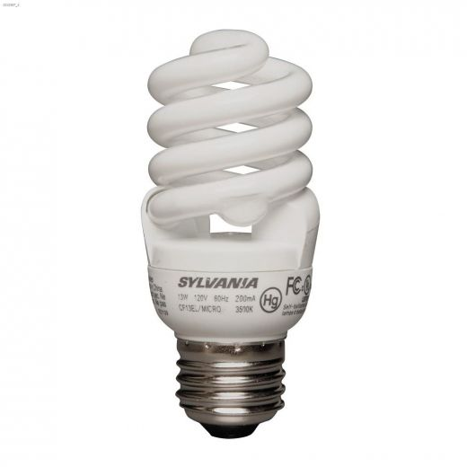 13 Watt Medium Screw Spiral Micro BW CFL Bulb-3\/Pack