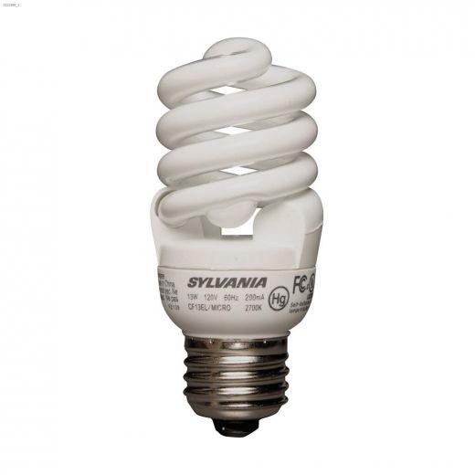 13 Watt Medium Screw Spiral Micro SW CFL Bulb-3\/Pack