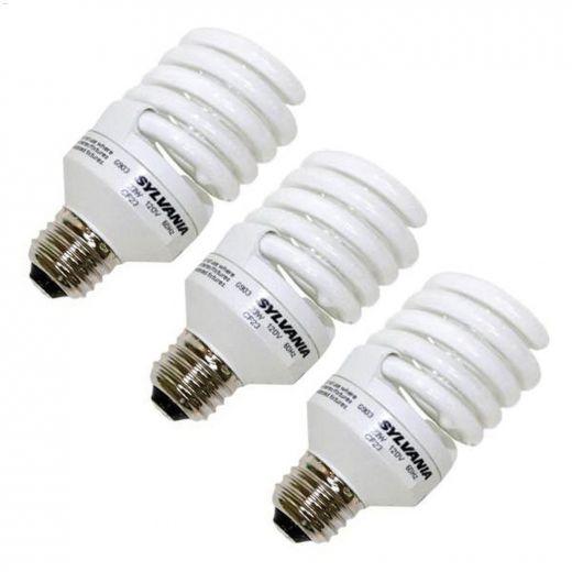 23 Watt Medium Bi-Pin Spiral Compact Fluorescent Bulb-3\/Pack