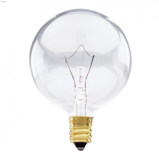 Clear 40 Watt Candelabra G16.5 Incandescent Bulb-2\/Pack