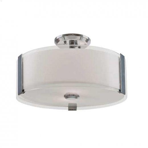Zurich 3 Light 100 Watt Semi Flushmount Ceiling Light