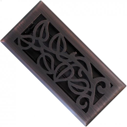 "4\"" x 10\"" Vine Design Floor Register"