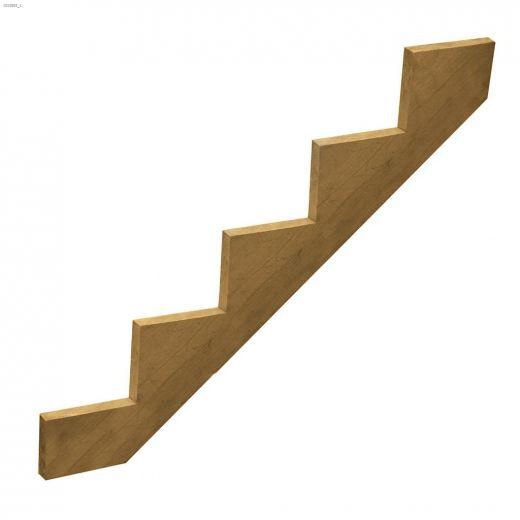 "4.8' x 10\"" x 2\"" Pressure Treated 5-Step Stair Stringer"