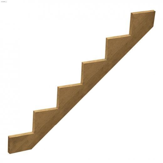 "10\"" x 2\"" Pressure Treated 6-Step Stair Stringer"