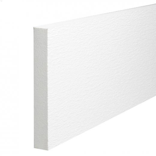 """PlyGem 1\"""" x 4\"""" x 12' White Trim Board"""