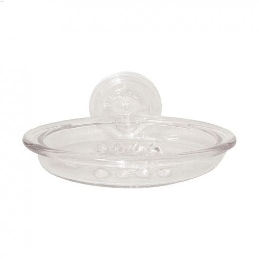 Power Lock Suction Clear Soap Holder
