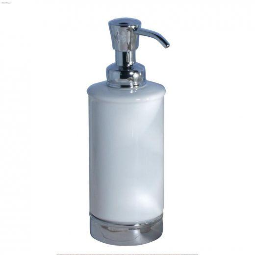 York 11 oz White\/Chrome Soap Pump Dispenser