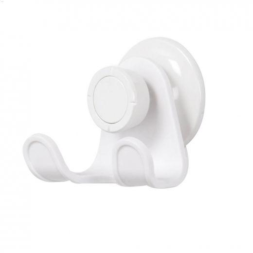 FLEX GEL-LOCK\u2122 White Double Suction Shower Hook