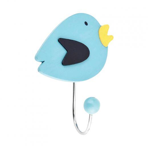 """1-27/32"""" Blue Eclectic Bird Hook"""