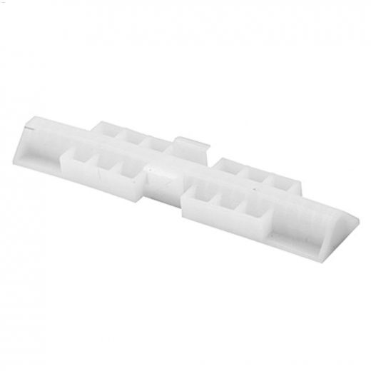 "4\"" x 13\/16\"" Plastic Bi-Fold Door Track Snugger"