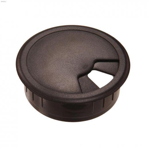 "2-3\/8\"" Opening Gray Plastic Breakaway Desk Grommet-1\/Pack"