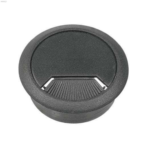 """2-3\/8\"""" Opening Gray Plastic Swivel Desk Grommet-1\/Pack"""