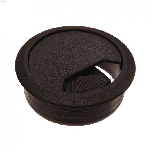 """2\"""" Opening Gray Plastic Desk Grommet-1\/Pack"""