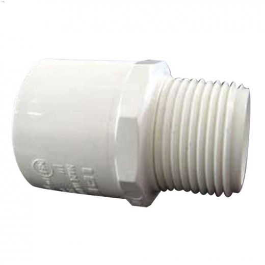 "Kent.ca   IPEX Inc/Home Rite - 1"" Socket x MPT White PVC ..."
