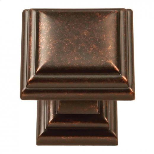 """1-1\/8\"""" x 1-1\/8\"""" Dark Antique Copper Sommerset Cabinet Knob"""