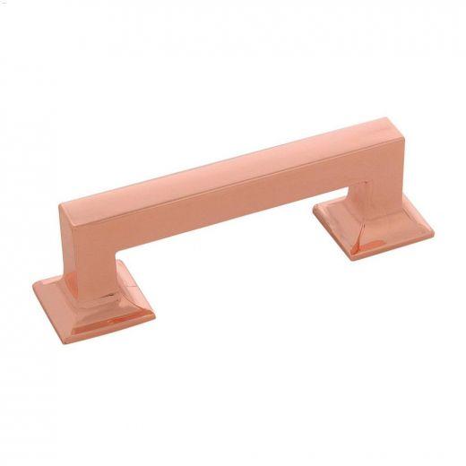 "3\"" Polished Copper Studio Cabinet Pull"