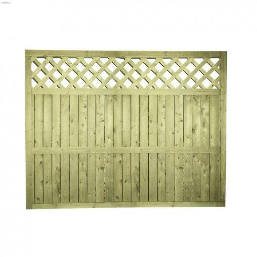 "64\"" x 8' Lattice Top Fence Panel"