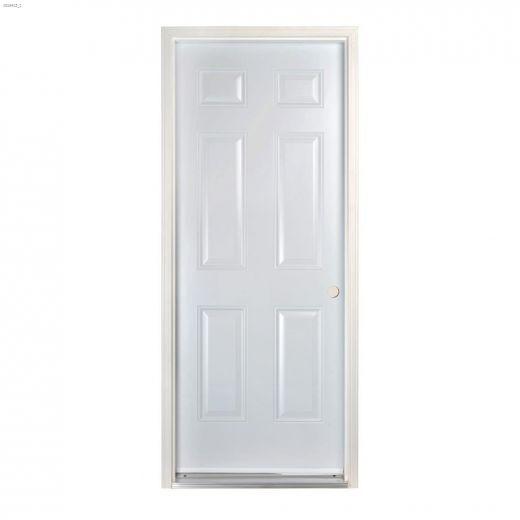 """32\"""" x 80\"""" 6 Panel Outswing Exterior Steel Door"""