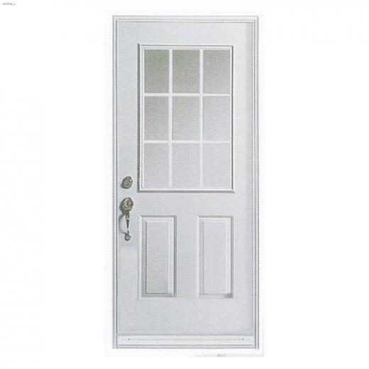 """36\"""" x 80\"""" 9 Lite Exterior Steel Door"""